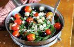 Roasted Green Bean, Tomato and Feta Salad