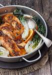 Spicy Orange Roasted Salmon and Bok Choy