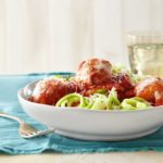 Turkey Meatballs Over Zucchini Noodles