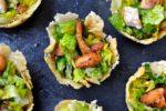 Caesar Salad Parmesan Cups