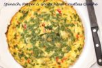 Spinach, Pepper & Goat Cheese Crustless Quiche