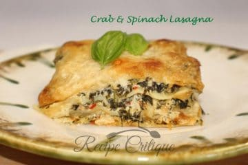 Crabmeat and Spinach Lasagna